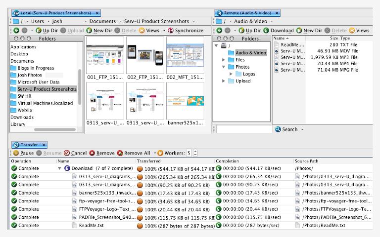 screenshot of solarwinds serv-u mft showing the file transfer details