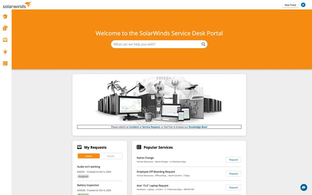 SolarWinds Service Desk portal